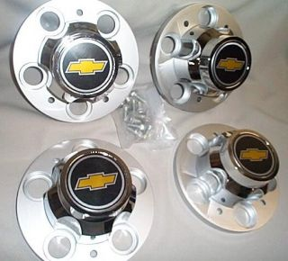 73 87 Chevy Truck Rally Wheel 5 Lug Center Caps New GM
