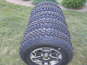 2013 Jeep Rubicon Factory Wheels Rims BFGoodrich Tires '07 '13 Set of 5