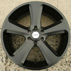 American Racing Circuit 22 x 9 5 Black Rims Wheels Cadillac Escalade 6H 30