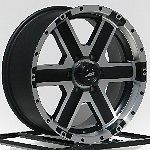18 in Black Wheels Rims American Racing Element 6x5 5 6 Lug Chevy GMC Truck SUV