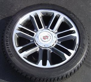 "22"" Cadillac Escalade Platinum Wheels Bridgestone Dueler Tires 285 45 22 4680"