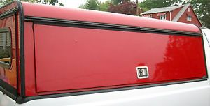 Truck Cap Are Contractor Red Aluminum Cap F250 F350 Short Bed SB Mint