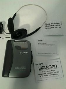 Sony Walkman Radio Cassette Player FM Am Auto Reverse Headphones