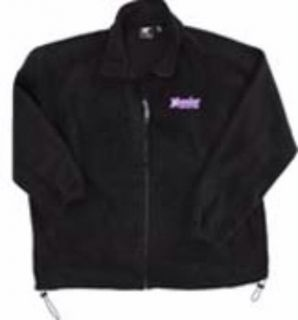 Hoosier Racing Tire Black Micro Fleece Jacket Dirt NASCAR Sprint Car Apparel