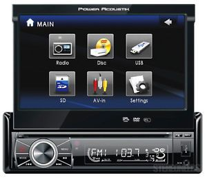 "Power Acoustik Ptid 8920 Car 7"" Touchscreen Monitor CD iPod DVD Player Receiver"
