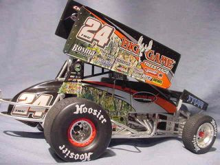 Terry Mccarl Big Game Treestand R R World of Outlaws Sprint Car GMP 1 18 Diecast