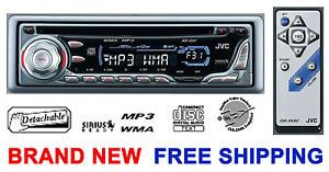 New JVC KD S32  WMA Car CD Player Radio Stereo Sirius w Removable Face Remote