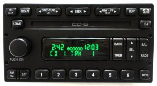 Ford Crown Victoria Escape Mercury Mariner Radio 6 Disc Changer CD Player SAT