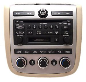 06 07 Nissan Murano Radio 6 Disc CD Tape Player Changer 28188 CC200 SAT