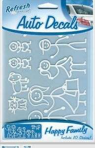 Happy Family Stick People Pets Rear Window Car Auto Stickers Decals New
