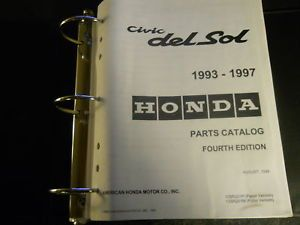 1997 1996 1995 94 Honda Civic Del Sol Parts Catalog
