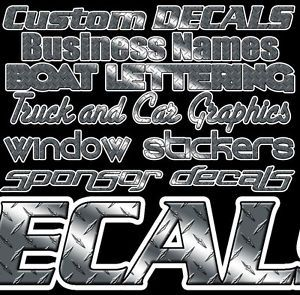 Custom Diamond Plate Lettering Decals Stickers Graphics Boat Logos Business Car