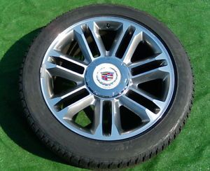 4 2013 Real Genuine Factory GM Cadillac Escalade Premium 22 Wheels 98 Tires