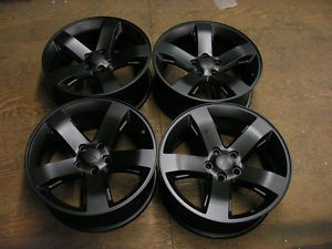 "Dodge Challenger Charger Magnum Chrysler 300 Wheels Rims 18"" Black Finish 2359"