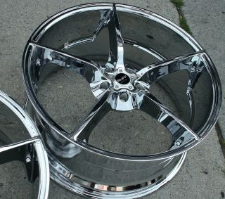 "Ruff Racing 948 22"" Chrome Rims Wheels Chrysler 300 300C V6 22 x 9 0 10 5H 15"