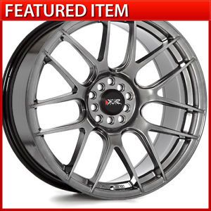 XXR 530 19 19x8 75 5 100 5 114 3 35 Chromium Black Wheels Rims WRX STI Acura TL