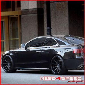 "20"" Audi D3 A8 Rohana RC10 Matte Black Concave Wheels Rims"