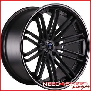 "20"" Hyundai Genesis Coupe Rohana RC20 Matte Black Concave Staggered Wheels Rims"