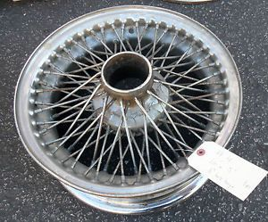 "Jaguar Wire Wheel Size 15"" x 5"" 8"" Hub Height Sold as Is"