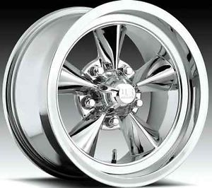 "15""x8 15""x9 US Mags 442 Camaro GTO Nova Chevelle Malibu S10 Chrome Rims Wheels"