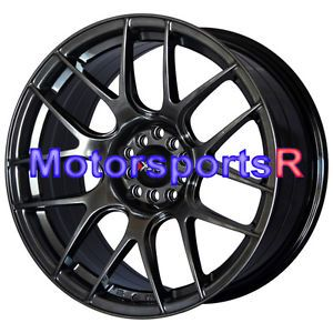 18 XXR 530 Chromium Black Wheels Rims Concave 5x114 3 03 07 Infiniti G35 Sedan S