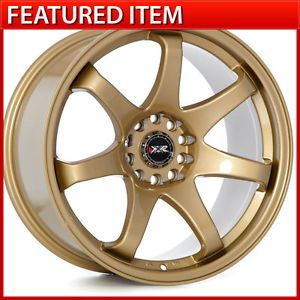XXR 522 18x8 5 18x9 5 5x114 3 Gold Staggered Wheels Rims Infiniti G35 G37 Sedan