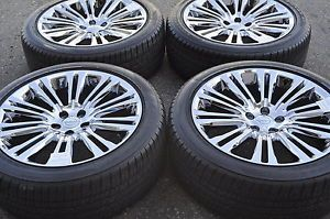 "20"" Chrysler 300 PVD Chrome Wheels Rims Used Tires Factory Wheels 2420"