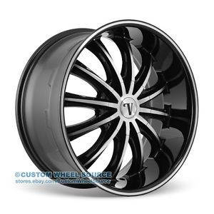 "20"" Velocity VW15 Black Machined Rims for Mazda Mitsubishi Nissan Volvo Wheels"