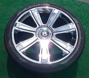 4 Chrome Factory Bentley Continental 21 inch Wheels Tires Flying Spur GTC V8