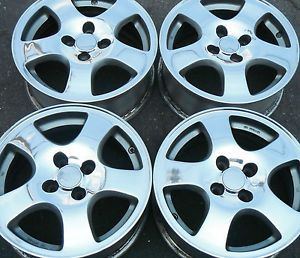 "15"" Honda Civic Acura Integra CRX Fit Wheels Rims Polished Finish Set 4 Lug GSR"