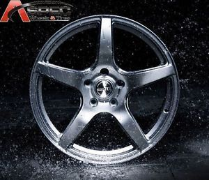 "19"" Euro Tek UO08 Silver 5x114 3 Wheel Fit Acura RSX TSX TL Honda Civic Accord"