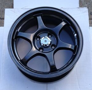 "15"" Type C Black Wheels Rims 4x100 4 Lug Acura Integra DC2 Da JDM TEG LS Vtec"