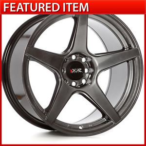 XXR 535 17 17x9 75 4 100 4 114 3 20 Chromium Black Wheels Rims Nissan 240sx S13