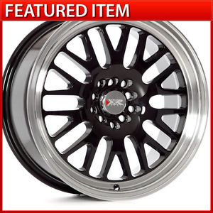 XXR 531 17 17x8 4 100 4 114 3 25 Gloss Black Wheels Rims Scion XB Nissan 240sx