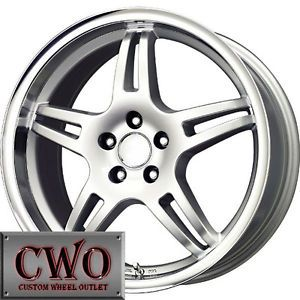 16 Silver Voxx MG3 Wheels Rims 5x112 5 Lug VW Passat Audi A4 Mercedes C s Class