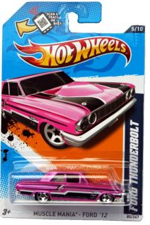 2012 Hot Wheels Muscle Mania Ford 85 Ford Thunderbolt Pink