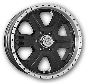 "17"" x 8"" American Racing 321 Fuel Ford Expedition Navigator Black Wheels Rims"