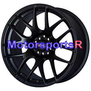 17 17x8 25 XXR 530 Flat Black Wheels Rims Concave 5x100 09 11 12 13 Scion TC FRS