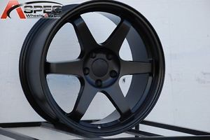 18x8 5 Varrstoen ES221 5x100 Black Wheel Fit Toyota Corolla Celica Scion TC Fr S