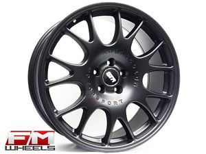 18x8 Str CH 602 Matte Black 5x100 Wheels VW GTI Golf Scion FRS BRZ WRX Rims