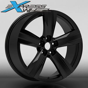 "20"" Chevroler Camaro ZL1 Style New Alloy Wheels Rims Black Staggered"