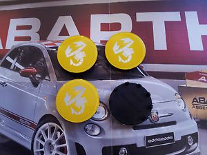 Coprimozzo Fregi Fiat 500 Abarth Grande Punto EVO Wheels Center Caps Logo Badge