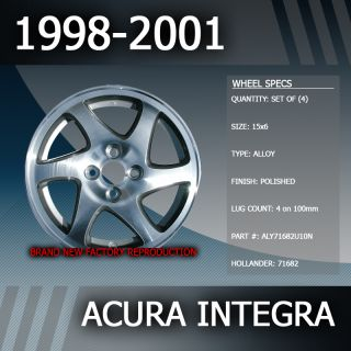 1998 2001 Acura Integra Factory 15 Rims Wheels Set of 4