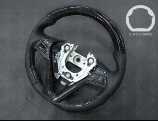 Carbon Sports Steering Wheel Cut D Shaped Fit Hyundai 2011 2013 Veloster Turbo