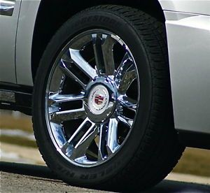 Set Real Genuine GM Factory Cadillac Escalade Platinum 22 inch Wheels Tires