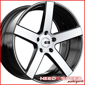 "22"" Cadillac cts V Coupe XO Havana Machined Concave Wheels Rims"