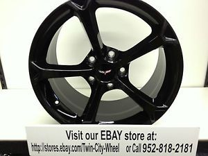 18 inch Black Chevrolet Corvette Grand Sport Wheels Rims 18x9 5 84 87 Vette