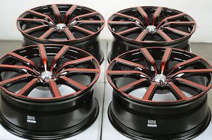 18 5x114 3 Red Wheels Honda Accord Civic Infiniti G35 Q45 I30 I35 RSX MR2 Rims
