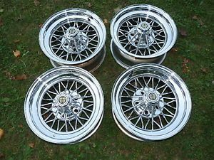 Vintage Cragar 30 Spoke Wire Wheels 15 x 7 Cadillac Impala Chrysler Chevy Ford