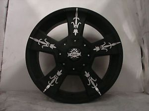 "4 22"" Silverado Sierra Dodge 2500 KMC Wheels Rims KM6682298018"